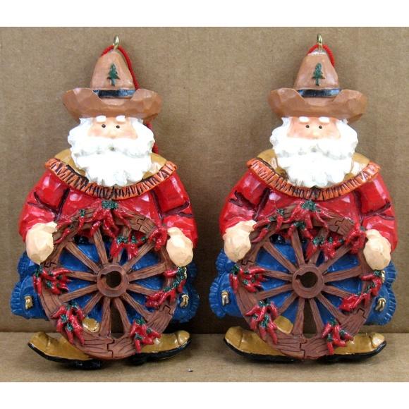 Unbranded Other - Cowboy Wagon Wheel - Christmas Ornaments - 2 Pcs